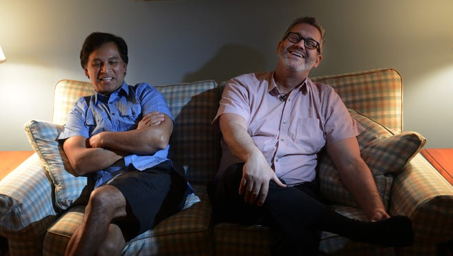Johno Espejo, left, and Matthew Mansell are one of the first couples in Tennessee to have same-sex marriage recognition.