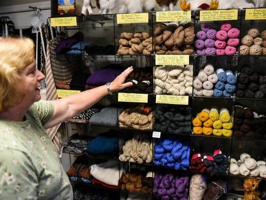 Sharon Musser talks about the fleece from alpacas that