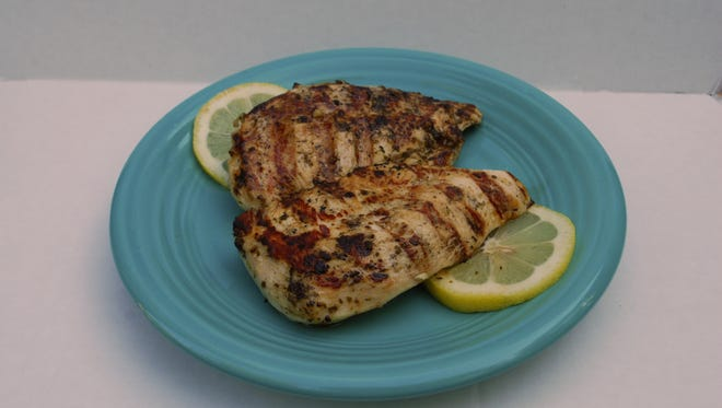 Grilled Lemon-Pesto Chicken