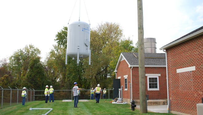 Helped by a $500,000 federal grant, New Castle's Municipal Services Commission installed a temporary carbon treatment system last year to remove perfluorinated chemicals from its 2,800-customer system. Commission officials have said costs for a permanent fix could eventually reach $1 million.