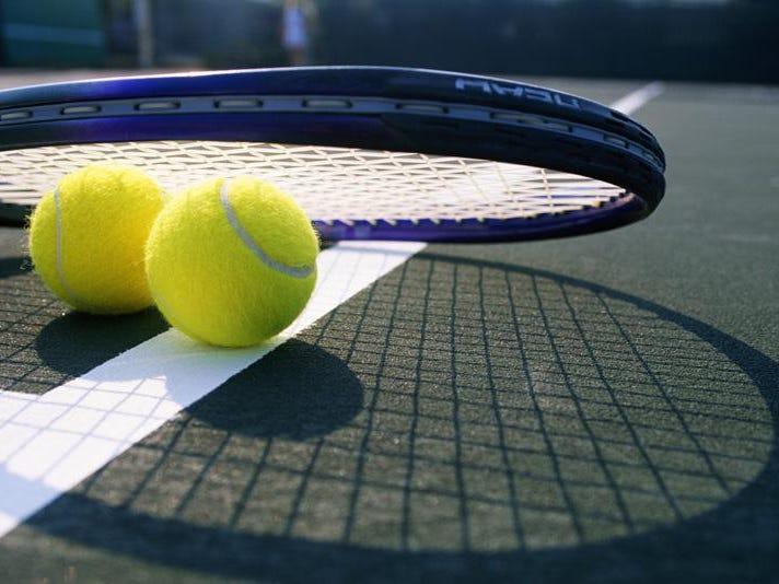 Tennis balls and tennis racquet