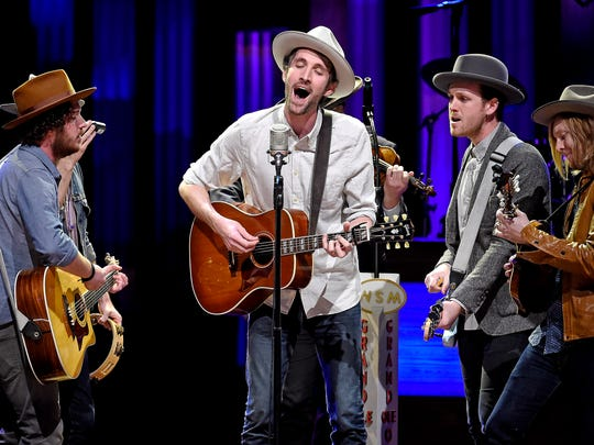 Green River Ordinance performs on the Grand Ole Opry.