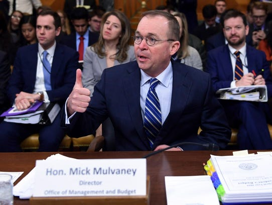 Mick Mulvaney is director of the Office of Management