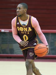 Rickey McGill during practice at Iona College in New