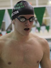 Junior David Helton placed second in the 50-free for