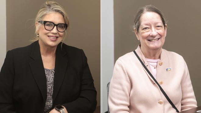 Janlyn Nesbett-Tucker, left, and Rep. Annie Kuether, right, are both running for Kansas House of Representatives District 55.