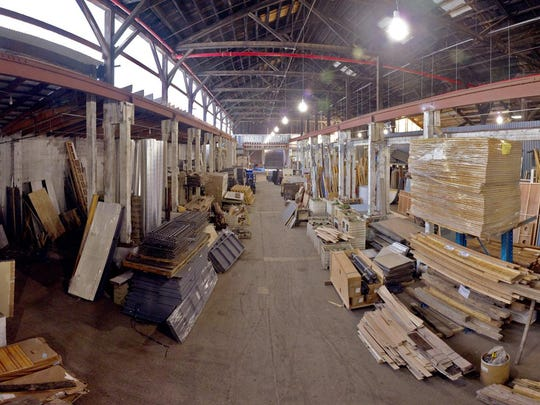 Big Reuse in Astoria 35,000-square-foot Queens warehouse filled with lumber and other items salvaged from New York City homes.