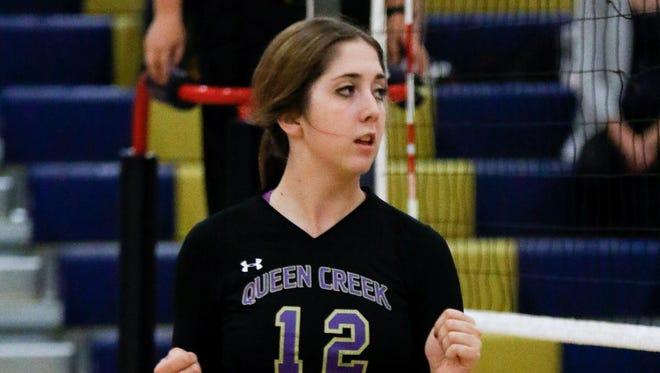 Queen Creek volleyball standout Claudia Wilson.