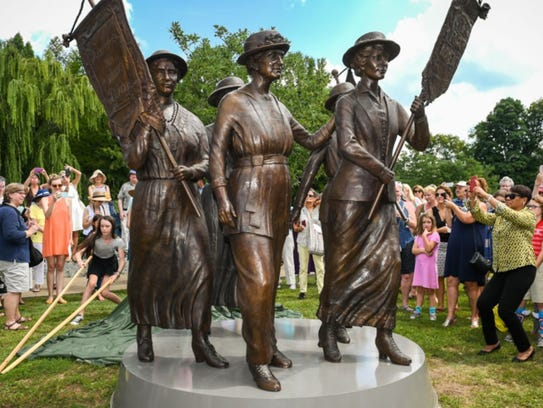 The Nashville women's suffrage monument.