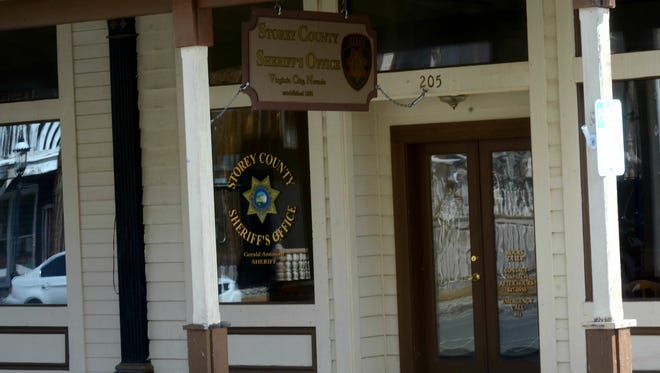 A photo of the Storey County Sheriff's Office in Virginia City taken on March 21, 2017. A $250,000 settlement was reached in the sexual harassment lawsuit filed against both Sheriff Gerald Antinoro and Storey County.