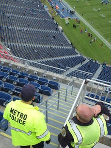 Metro Nashville Police Department Chief Steve Anderson is calling for tougher laws regulating private security at big Nashville events like Tennessee Titans games. He said unregistered guards who aren't qualified to work the events can pose a risk and give Metro officers a bad name.