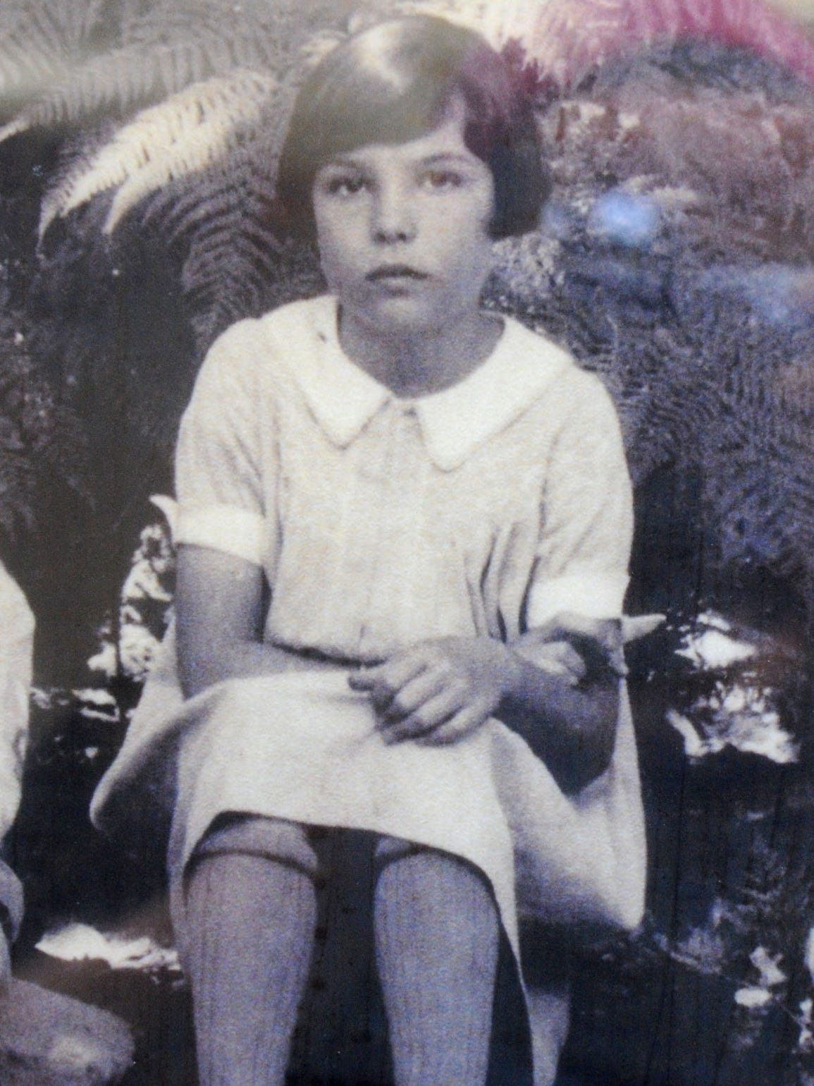 This picture shows Joanna Bard Newton as a child. She