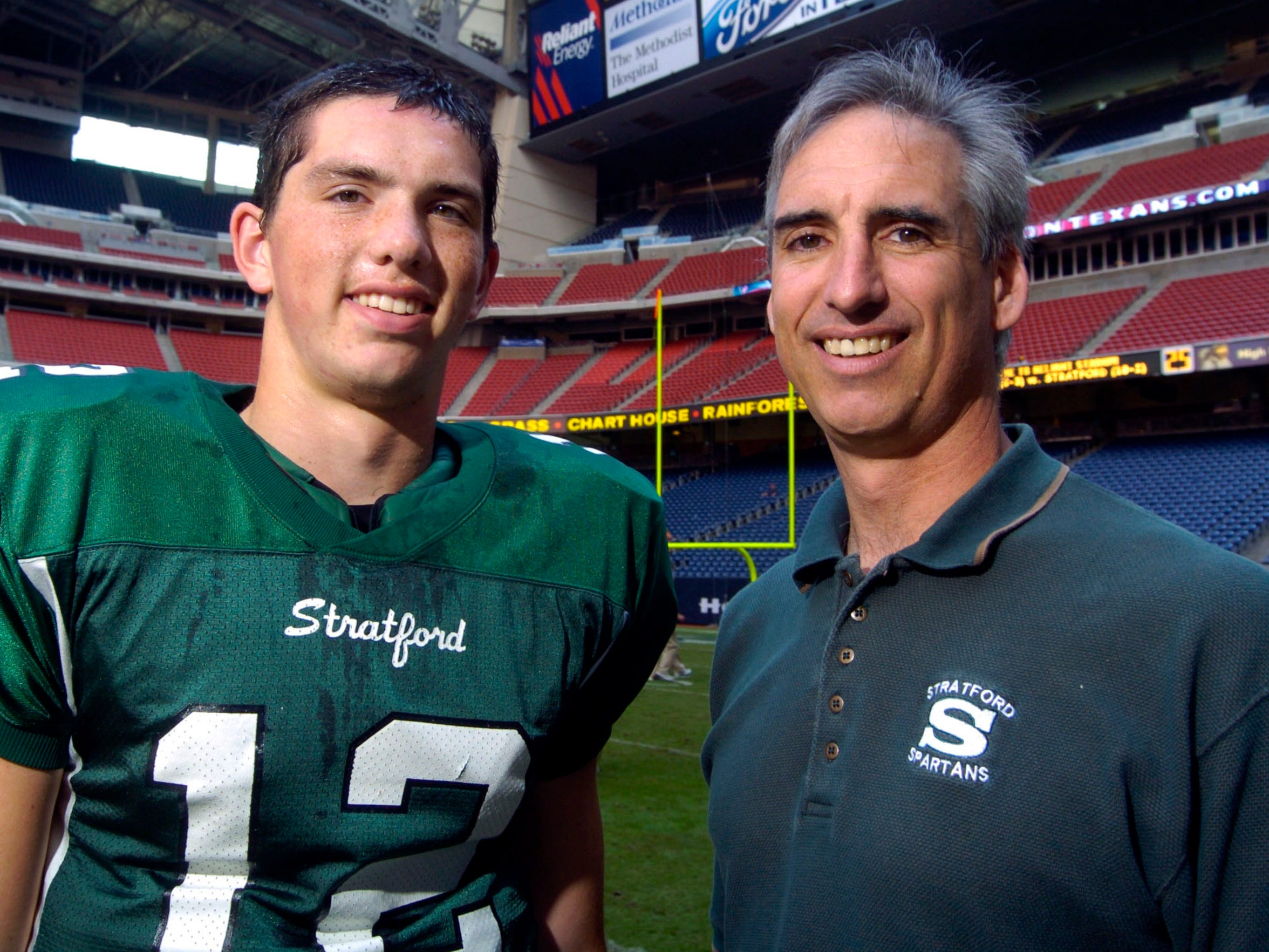 Andrew Luck's first football coach? His dad, who put him at defensive end. But when Andrew went out for the school team, Oliver backed off.