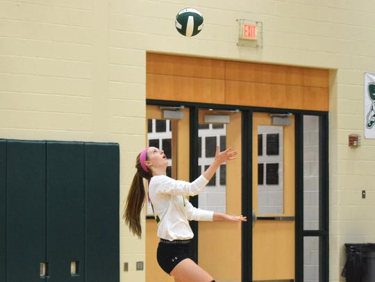 Wilson Memorial's Paris Hutchinson gets ready to serve
