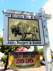 The Buffalo Bar & Grill features a full menu for little