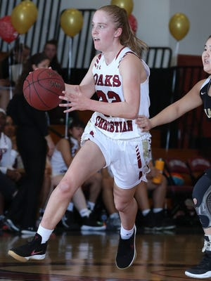 Ashley Massel was the leading scorer for the Oak Christian girls basketball team.