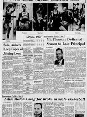 The Evening Journal of Saturday, March 11, 1967, the day of the state's first boys basketball tournament championship.