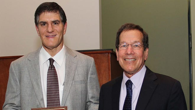 Dr. Lawrence Kantor (left), Outstanding Community Faculty Educator and Dr. Gary Silverman, Guardian of the Mission