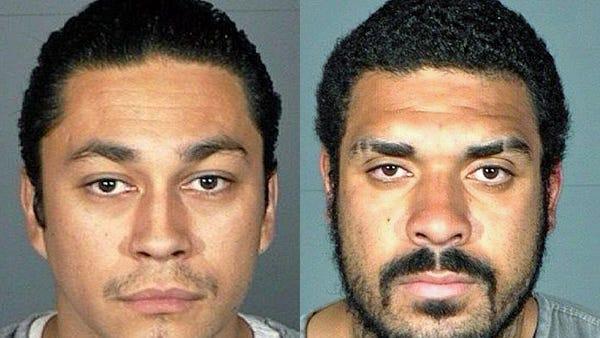 Robert ?Robbie? Michael Hernandez, 27, of Carson City, left, and Jordan Randall Burkhart, 24, of Wellington .