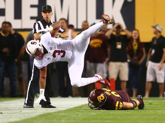 Stanford was upended Saturday by Arizona State, knocking the Cardinal out of the polls and out of the conversation this year.