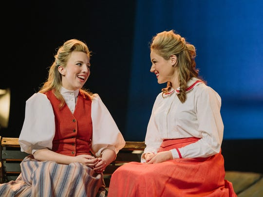Soprano Emily Way, left, and Ann Louise Glasser performed
