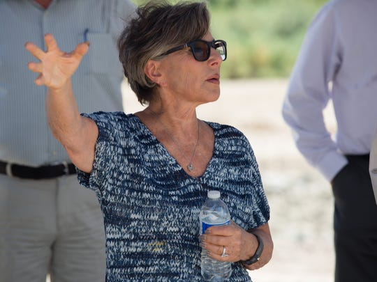 Senator Boxer visits the Red Hill Bay Improvement Project, which is planned to create wetlands at the south end of the Salton Sea, Thursday, August 18, 2016.