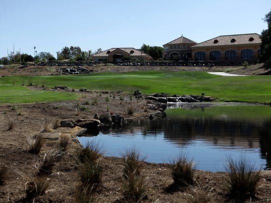 New landscaping, which includes native California vegetation, is seen around Los Robles Golf Course.