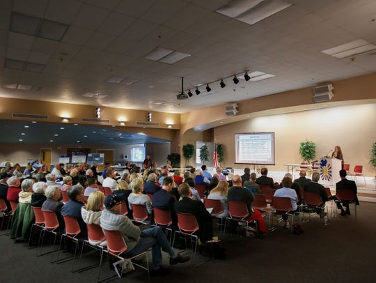 Around 100 people should up at a public meeting to