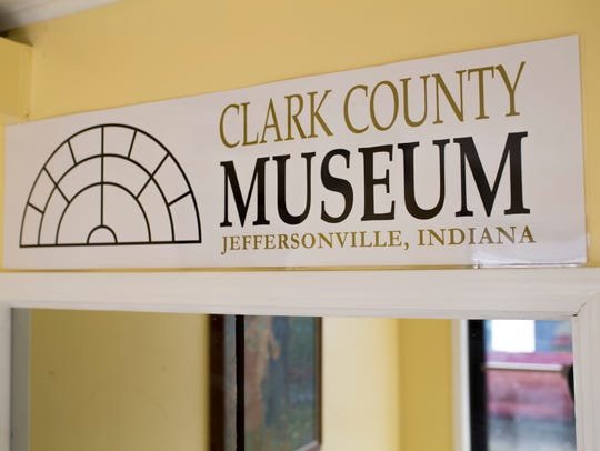 The sign inside at the newly opened Clark County History