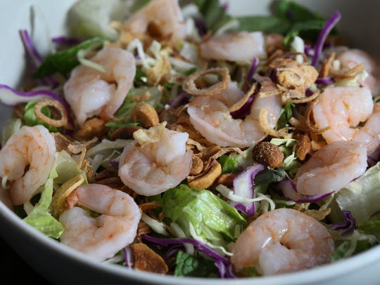 The Asian cabbage salad with shrimp served at Pho Ba