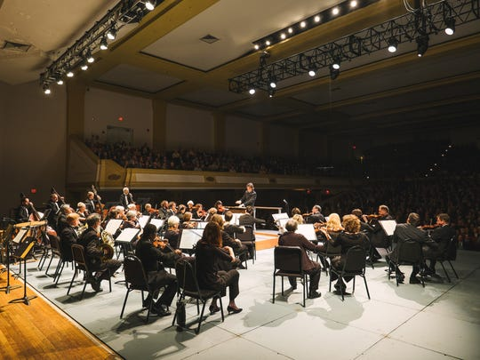 As in the inaugural Asheville Amadeus in 2015, Thomas Wolfe Auditorium will be transformed for the 2017 festival with a 30-foot stage extension to bring audiences closer to the orchestra. (Photo by Derek Olson)