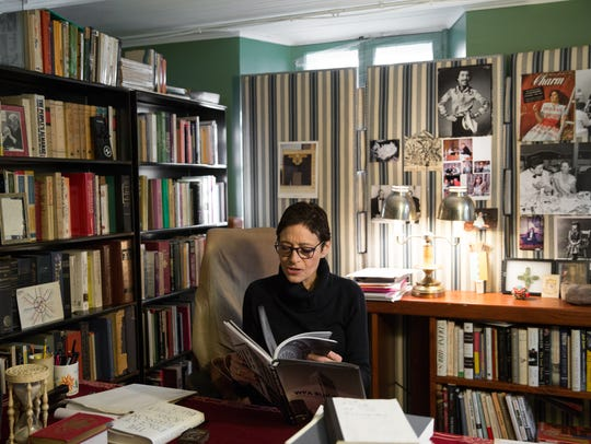 Author Joan Juliet  Buck in her office at the Rhinebeck