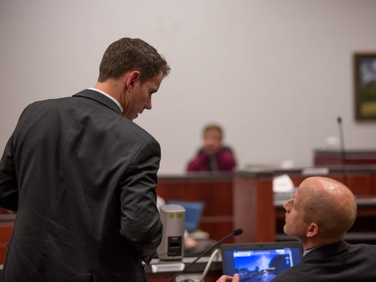 Prosecutors Bryan Shea and Ammon Barker discuss the