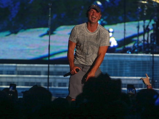 Apr 30, 2017; Indio, CA, USA; Kenny Chesney performs
