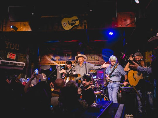 Alan Jackson plays his AJ's Good Time Bar  following