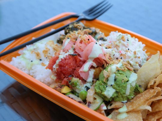 Haus of Poke in Rancho Mirage, serves poke bowls that
