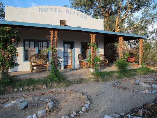 The Nipton Hotel is one of the only remaining businesses in Nipton, Calif., Wednesday, August 2, 2017.