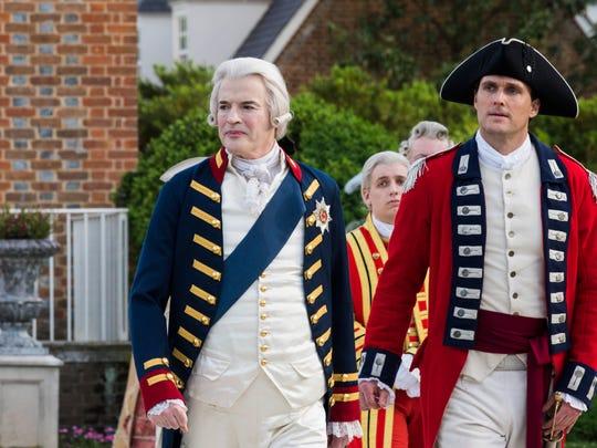 Paul Rhys, left, as King George III and Owain Yeoman