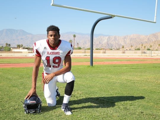 Derrick Kennedy is selected to the Desert Sun's Elite 11, Monday, August 14, 2017.
