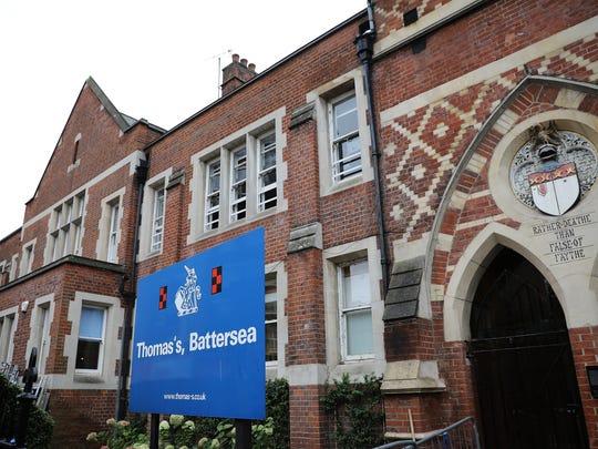 Thomas's Battersea school on Sept.4, 2017 in London