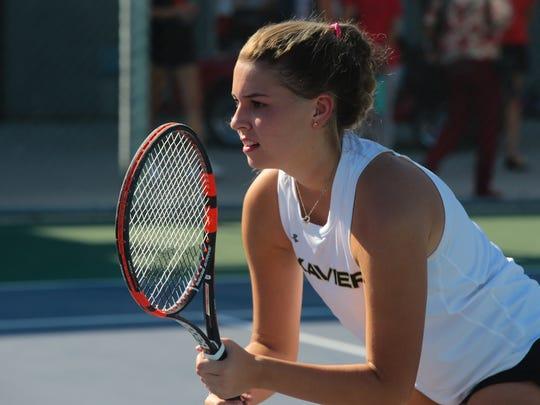 Palm Desert tennis plays Xavier Prep, September 14, 2017.