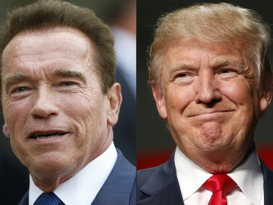 Arnold Schwarzenegger, left, was a well-known actor