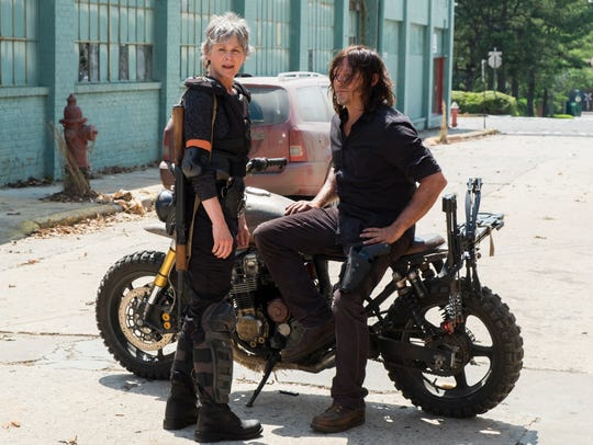 Carol (Melissa McBride) and Daryl (Norman Reedus) are