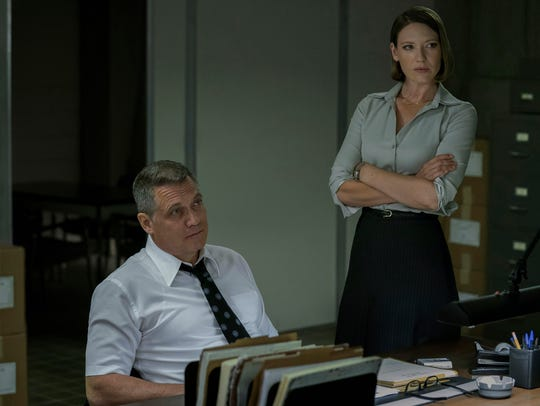 Bill Tench (Holt McCallany) and Wendy Carr (Anna Torv) are two of the three brains behind the FBI's criminal profiling operation, which looks to connect common threads between serial killers and rapists.