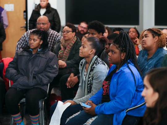 The public was invited to a community town hall meeting at the Glassworks building to discuss the controversy surrounding Manual High School principal Jerry Mayes.  Nov. 16, 2017