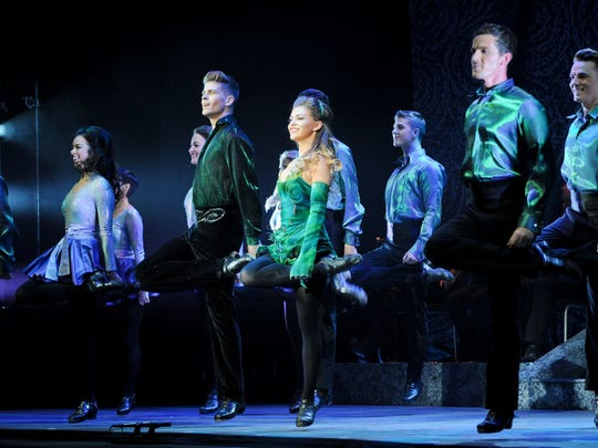 The cast of Riverdance - The 20th Anniversary World Tour.