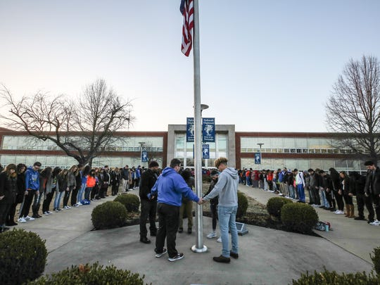 Paducah Tilghman High School held a prayer circle on Wednesday morning to honor the shooting's victims.