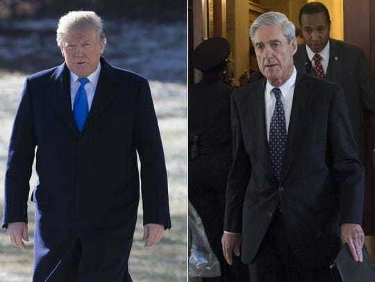 President Trump and Robert Mueller.
