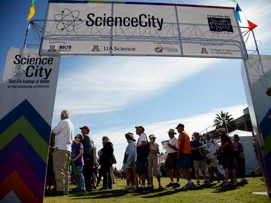 Science City at the Tucson Festival of Books includes tours of a tree-ring lab.