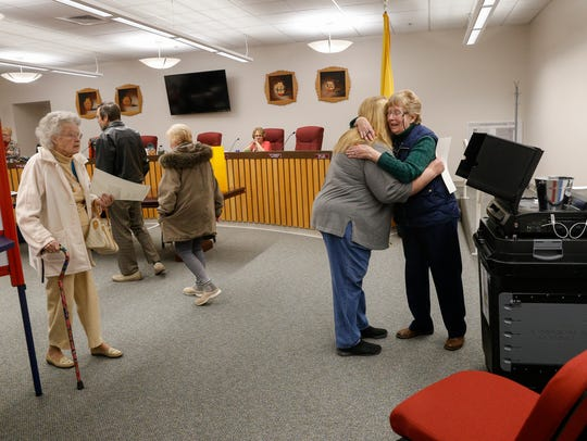 Voters cast their ballots on Tuesday at Bloomfield City Hall.